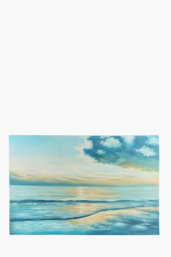 Hand Painted Ocean Sky 170x70cm Wall Canvas