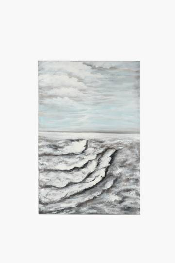 Hand Painted Waves 120x90cm Wall Canvas
