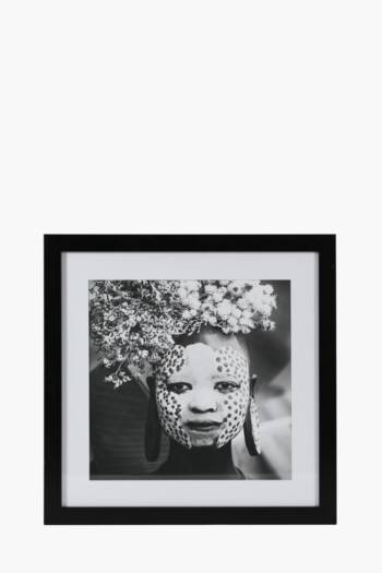 Framed Tribal Girl 50x50cm Wall Art