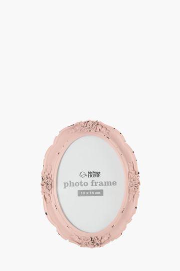 Vintage Rose Oval Frame, 13x18cm