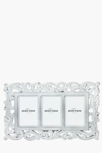 Carved Floral 3 Picture Multi Frame
