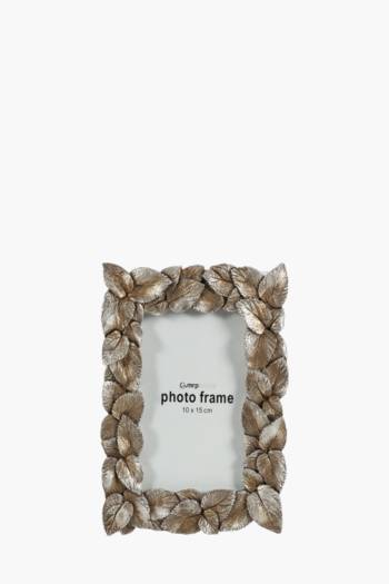 Metal Leaves Frame, 10x15cm