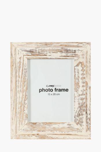 Washed Light Wood Frame, 15x20cm