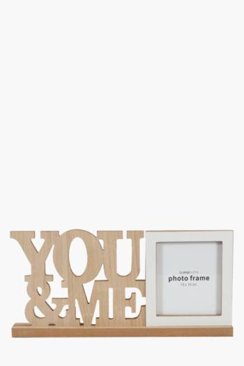 You And Me Wood Frame, 15x15cm