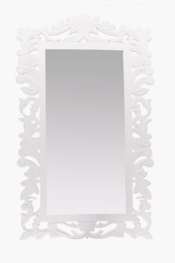 Carved Floral Mirror, 90x120cm