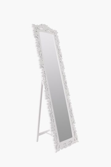 Carved Floral Standing Mirror