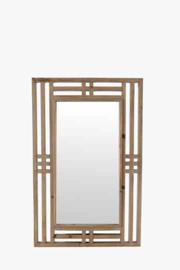 Framed Wood Mirror