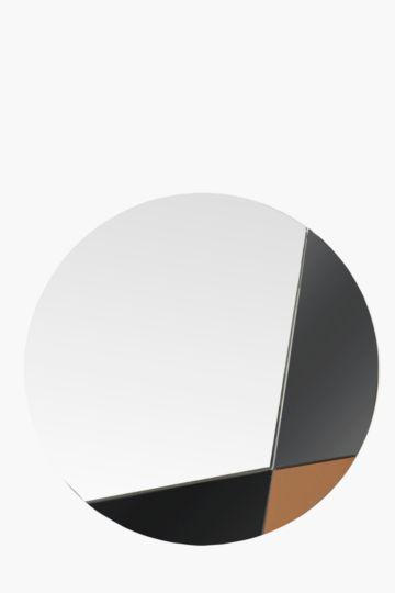 Color Block Round Mirror