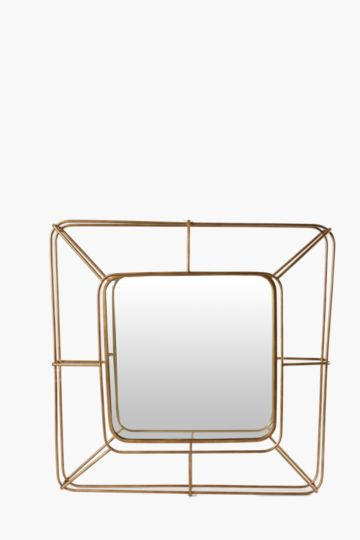 Metallic Basked Mirror