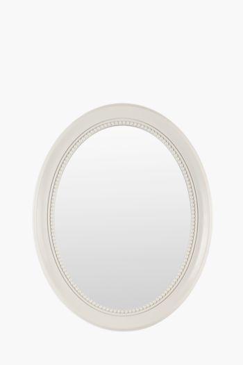 Beaded Oval Mirror