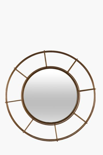 Round Basket Mirror