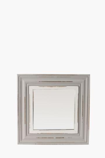 Distressed 40x40cm Mirror