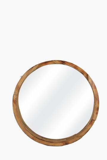 Cascade Mango Wood Round Mirror, 60cm
