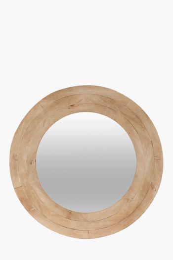 Wood Ring Mirror, 60cm