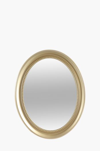 Beaded Oval Mirror