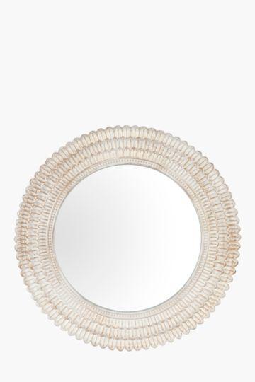 Scallop Resin Mirror, 68cm