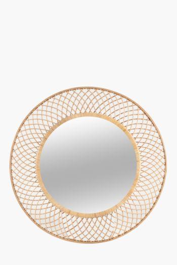 Woven Round Mirror, 90cm