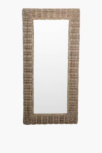 Kubu Weave Standing Mirror