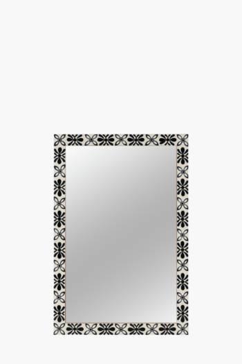 Floral Border Mirror, 60x90cm