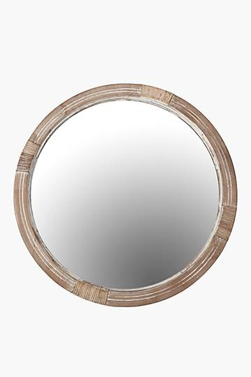 Carved Rope Round Mirror, 80cm
