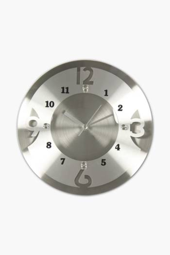 Metal Cut Out Clock