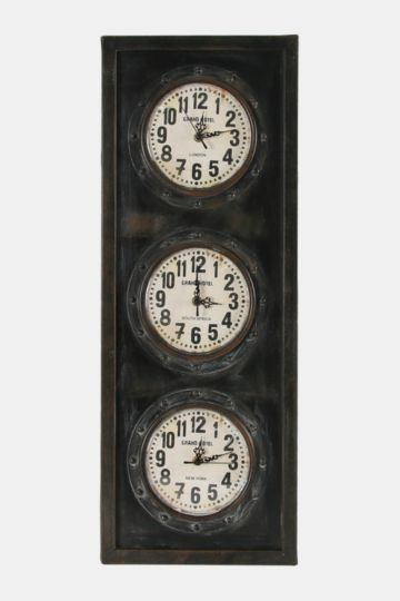 Time Destination Industrial Clock