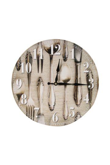 Silverware Paper Clock