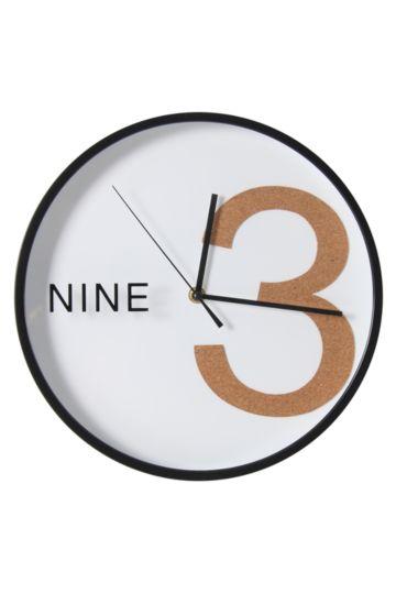 Urban Plastic And Cork Clock