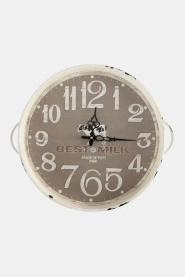Script Tray Shaped Wall Clock