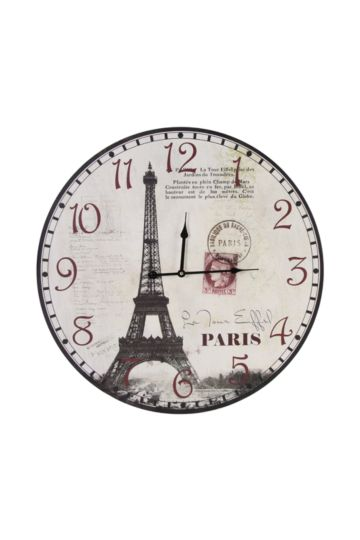 Eiffel Tower Paper Clock