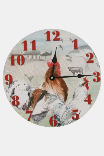 Rooster Wall Clock, 32cm