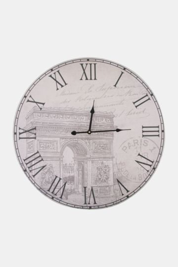 Paris Arch Paper Wall Clock