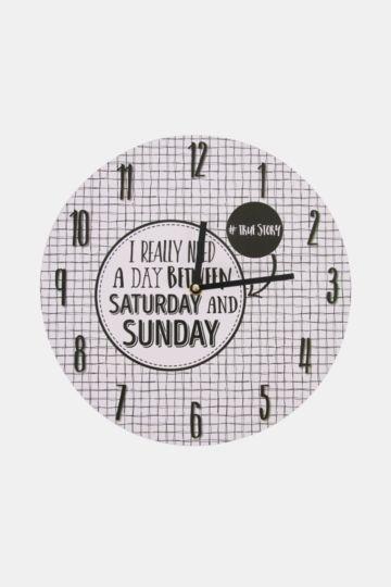 Urban Script Clock, 32cm