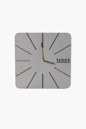 Cement Square Wall Clock