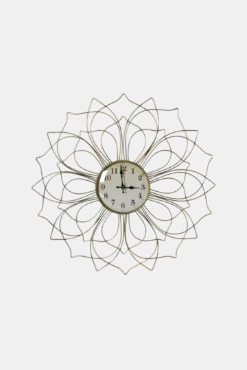 Lotus Washed Metal Clock