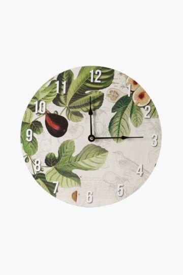 Wild Figs Wall Clock