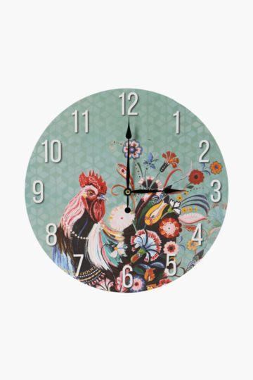 Santa Fe Rooster Wall Clock