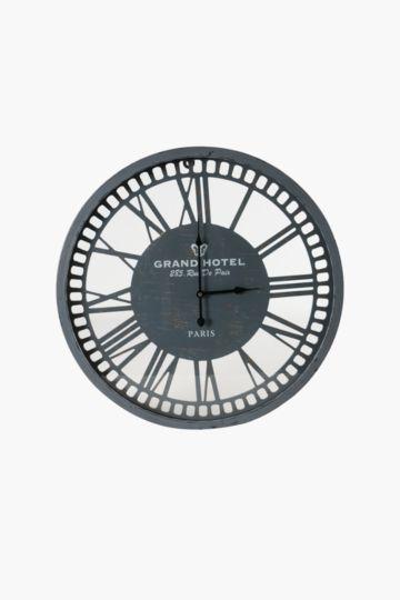 Grand Hotel Metal Clock