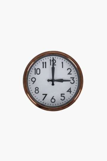 Retro Plastic Wall Clock