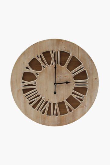 Cut Out Light Wood Clock