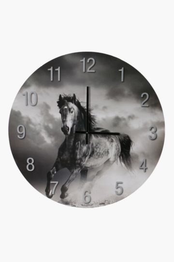 Wild Horse Paper Wall Clock