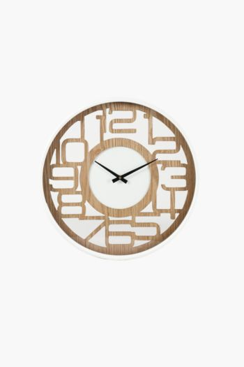 Framed Cut Out Numbers Clock