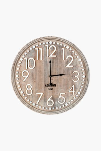 Washed Wood Clock