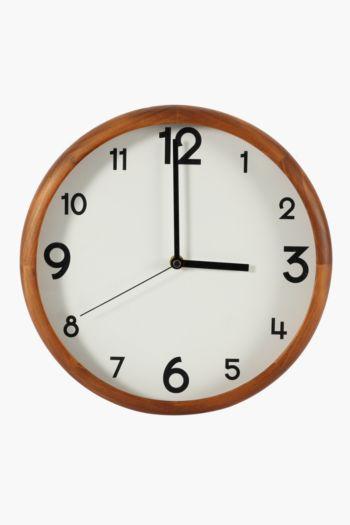 Chestnut Wooden Clock