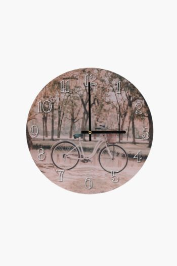 Autumn Bicycle Wall Clock