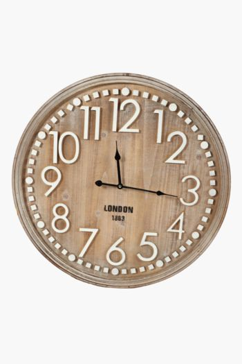 Classic Wood Clock, 60cm