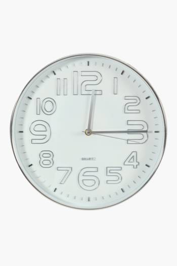 3d Numbers Wall Clock