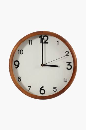 Chestnut Wood Clock, 30cm