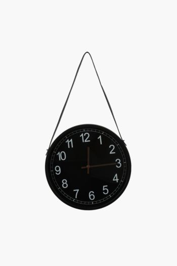 Leather Strap Hanging Clock