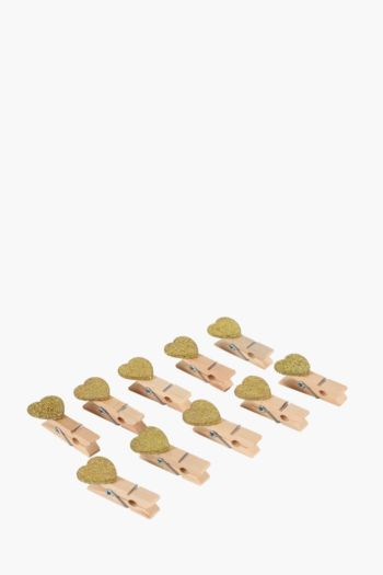 Pack Of 10 Heart Pegs